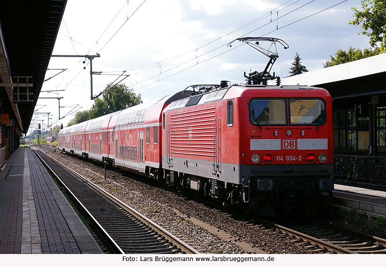 DB Baureihe 114 in Brandenburg Hbf